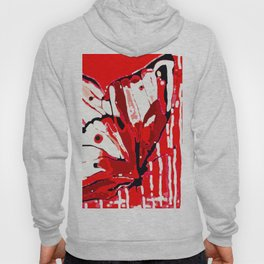 BUTTERFLY Red and White Glowing Hoody