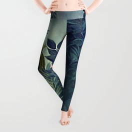 The Equatorial Jungle with Lions by Henry Rousseau Leggings