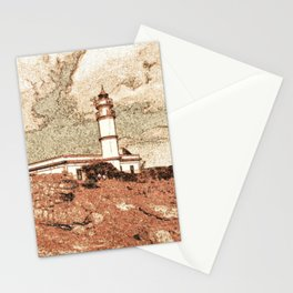 Lighthouse, Faro Ses Salines Stationery Cards