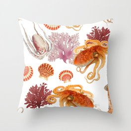 Color Marine Pattern 09 Throw Pillow