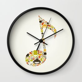 Food the note Wall Clock
