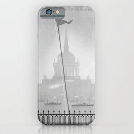 retro old Leningrad poster iPhone Case