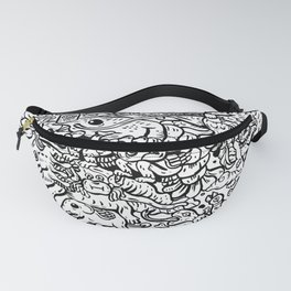 Somewhere Together black and white Fanny Pack