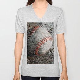 Baseball art Unisex V-Neck