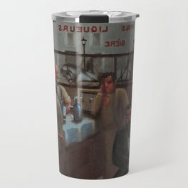 African-American 1929 Classical Masterpiece 'Paris, Cafe' by Archibald Motley Travel Mug