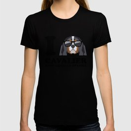 I Love Cavalier King Charles Spaniel modern v1 T-shirt