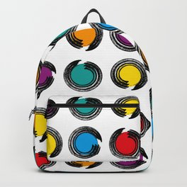 abstract modern pattern background with colorful grunge circles Poster Backpack