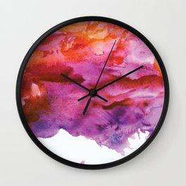 watercolor no.1 Wall Clock