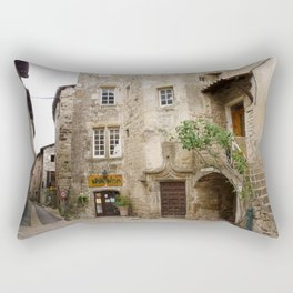 France Ardeche stairway Street Houses Cities Stairs staircase Building Rectangular Pillow