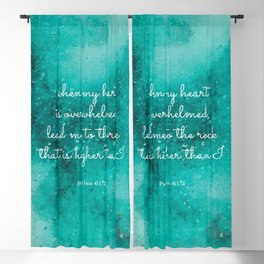 Lead me to the rock that is higher than I, Psalms 61:2 Blackout Curtain
