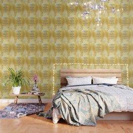 Serenity Prayer Kelt on Yellow Wallpaper