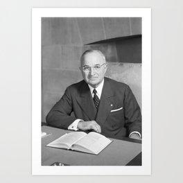 Harry S. Truman - Photo Portrait Art Print