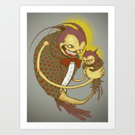 Virgin Father and Child Art Print