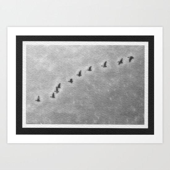 Morning Flight Of Geese Art Print