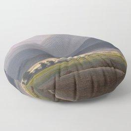 Caspar David Friedrich - View of the Small Sturmhaube from Warmbrunn Floor Pillow