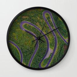 Sinuous road Wall Clock