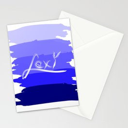 Lexi on blue Stationery Cards