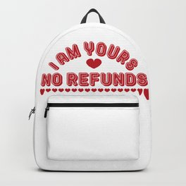 Valentines day quotes love red  Backpack