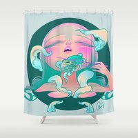 horror Shower Curtains featuring Horror fish by STUDIO KILLERS