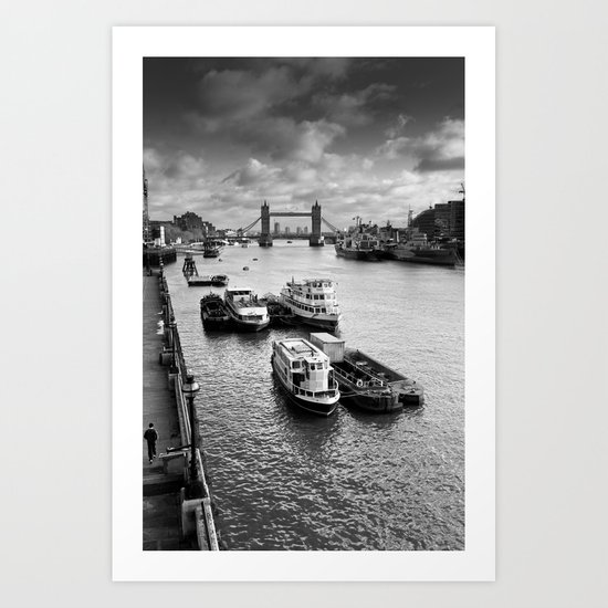 River Thames View Art Print