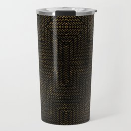Gold Optical Illusion Pattern Travel Mug