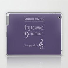 Bass-ic Music — Music Snob Tip #310 Laptop & iPad Skin