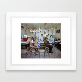 1960's Coffee Shop in the Safari Motel, Ocean City MD, Retro Motel Framed Art Print