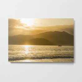 Yellow Sunset Metal Print