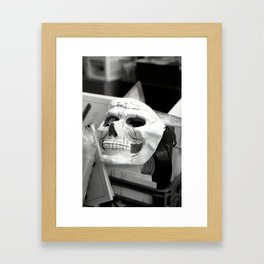 Skull mask, Old Curiosity Shoppe, Suisun City, CA  Framed Art Print