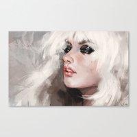 snow white Canvas Prints featuring snow by Fernanda Suarez