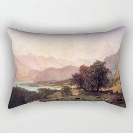 Albert Bierstadt - Bernese Alps Rectangular Pillow