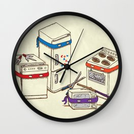 Teenage Mutant Ninja Kitchen Appliances Wall Clock