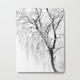 White snow tree Metal Print