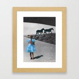 alice in dreamland Framed Art Print
