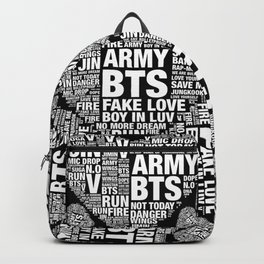 BTS ARMY Fan Art : Typography Backpack
