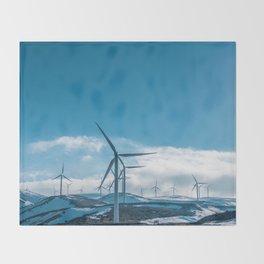 The Wind Farm (Color) Throw Blanket