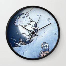 Mia & The Unicorn Bear Wall Clock
