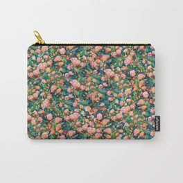 Romantic Roses Pattern — Peach • Coral Carry-All Pouch
