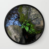 tennessee Wall Clocks featuring Tennessee Creek by The Magic of Nature & The True You