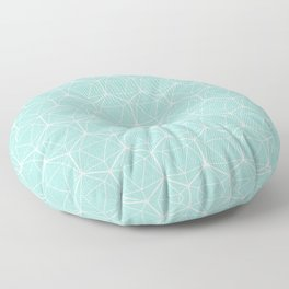 Icosahedron Seafoam Floor Pillow
