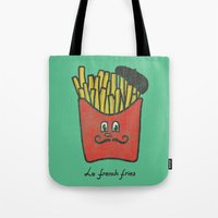french Tote Bags featuring French Fries by Picomodi