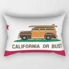 California or Bust Rectangular Pillow