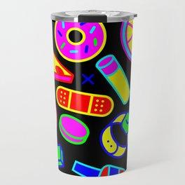 Neon Pattern Travel Mug