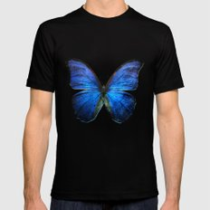 butterfly LARGE Black Mens Fitted Tee