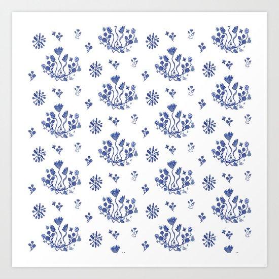 Clue in the Garden Art Print