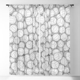 All I Want To Do Is Volleyball Sheer Curtain