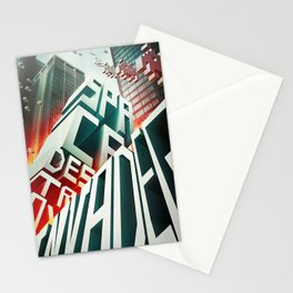 Invaders in the city Stationery Cards