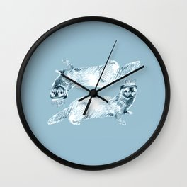 Forever Mink  (duo) Wall Clock