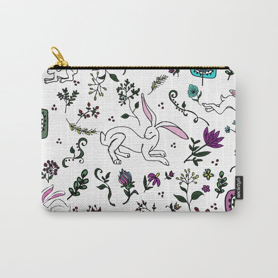 Spring Hare Carry-All Pouch