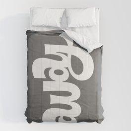 home/away ambigram Comforters